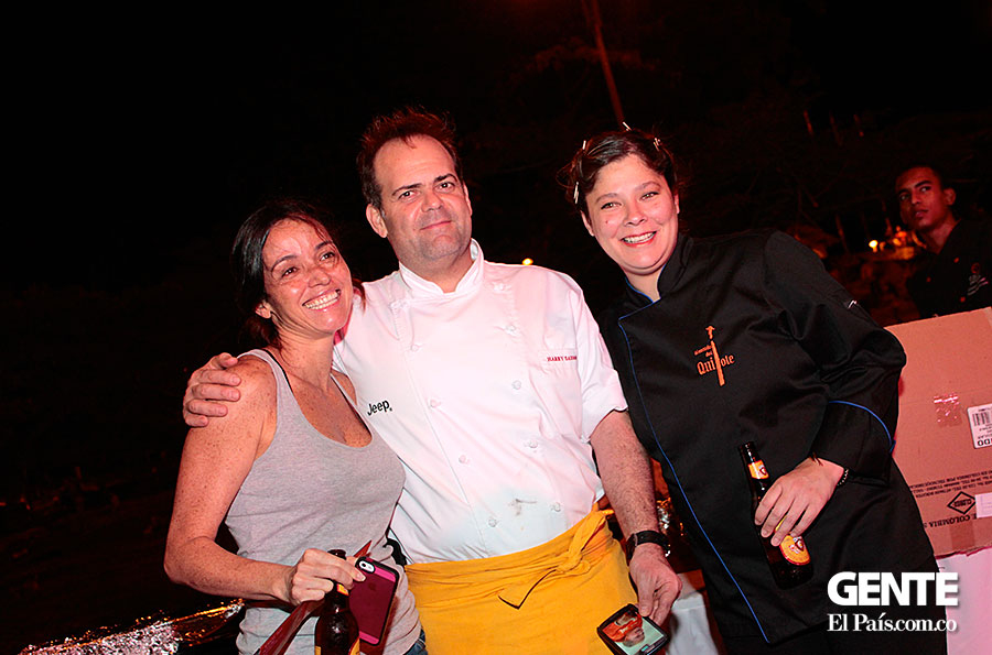 Catalina Vélez, Harry Sasson y María Claudia Zarama