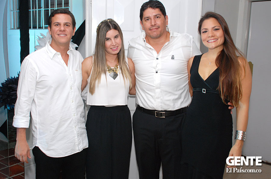 Munir Hissami, Natalia Ibañez, William Giraldo y Lina Pineda