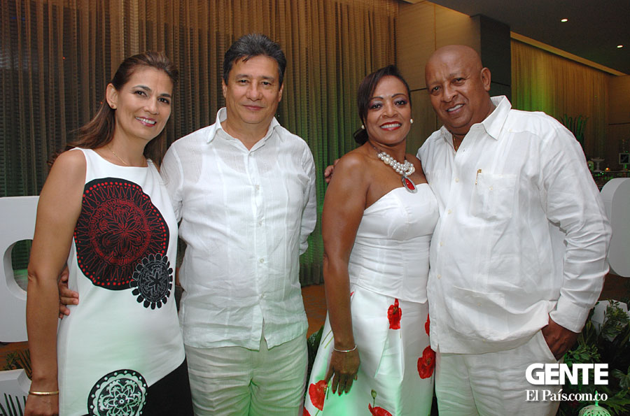 Lucelly Mejía, William Garay, María Elena Lucumí y Álvaro Mina