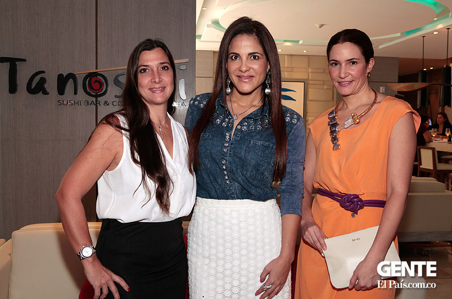 Ana Ospina, Nelly Rojas y Marcela Bellini